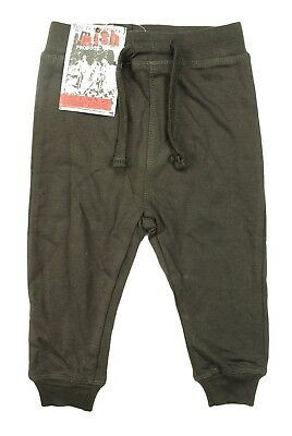 - NEW LITTLE KIDS TODDLER MISH BOYS TERRY BROWN SWEAT PANTS 18M