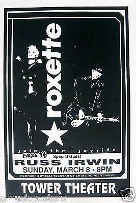 "ROXETTE 1994 ""JOYRIDE TOUR"" PHILADELPHIA CONCERT POSTER - Sweden Rocks!"