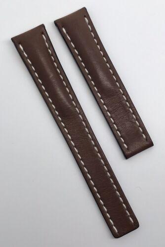 Original Breitling 18mm x 16mm Uhrenarmband Braun 417X