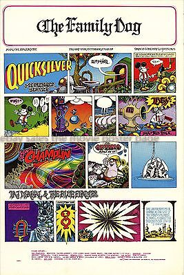 Quicksilver Messenger Service 1967 Family Dog Concert Poster