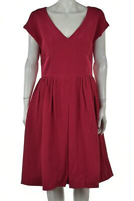 NEW Temperley London Ivy Womens Dress Size 8 Pink Sheath Knee Length Cap Sleeve