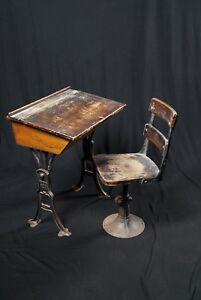 Antique Preston Ontario School Desk + Chair (1896)