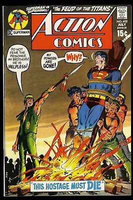 Action Comics #402 VF 8.0 DC Superman Neal Adams Cover!