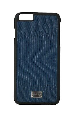 NEW $200 DOLCE & GABBANA Phone Case Blue Leather Patterned Cover iPhone6 Plus