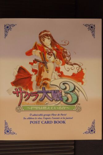 JAPAN Sakura Wars 3 ~Pari wa Moeteiru ka~ Postcard Book