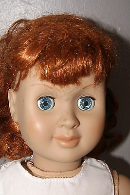 "Battat 1998  18"" Doll ~ Blue Eyes ~ Red Hair"