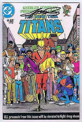 New Teen Titans Fight Drug Abuse Issue Vfnm Signed W Coa George Perez 1983