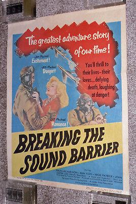BREAKING THE SOUND BARRIER original 1952 movie poster ANN TODD/DAVID LEAN
