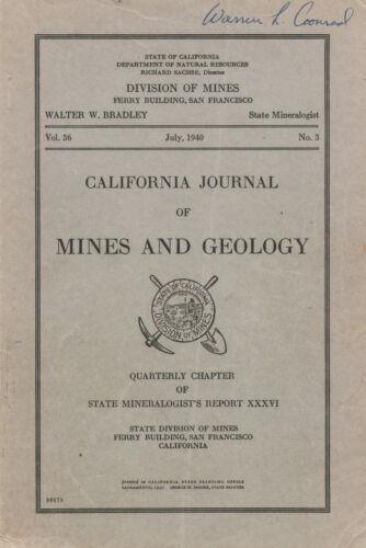 RARE Mojave Desert gold mines book: Calico, Barstow, Daggett, Calif; BIG sep map