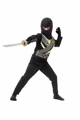 Ninja Avenger Costume (New Ninja Avenger Series IV Black Boys Costume by Charades 84440)