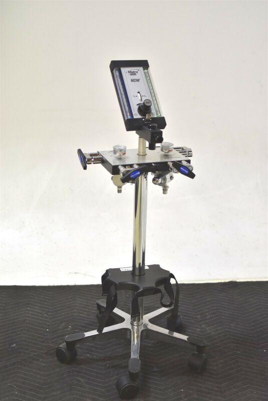 Matrx Mdm Dental Nitrous N2O Flowmeter Conscious N2O Sedation Unit 4-Tank Cart