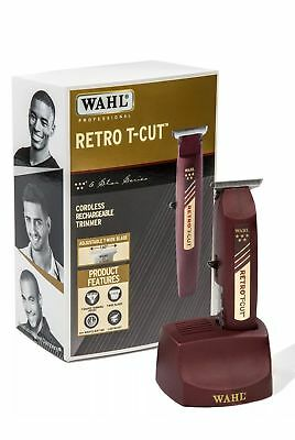 Wahl Professional 5 Star Cordless Retro T Cut Trimmer 8412 Great For Barbers New
