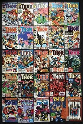 Thor #362 363 364 366 368 371 372 373 391 392 Lot of 25 1st Appearance Mongoose