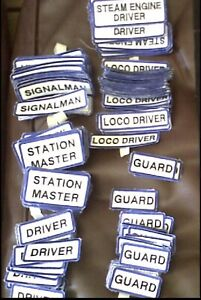 Train - Embroidered Title/Name Badges