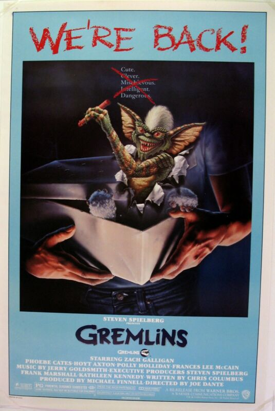 Gremlins, original 1985Re-release movie poster, mint condition.