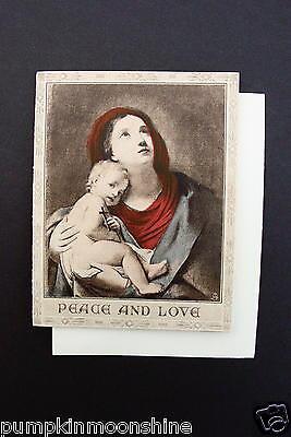 Unused Raphael Tuck Xmas Greeting Card Lovely Madonna and Christ Child ~ England
