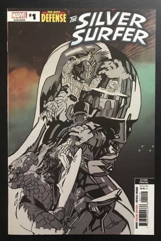 Silver Surfer Best Defense #1 Second Printing Variant Marvel Comic Book Galactus