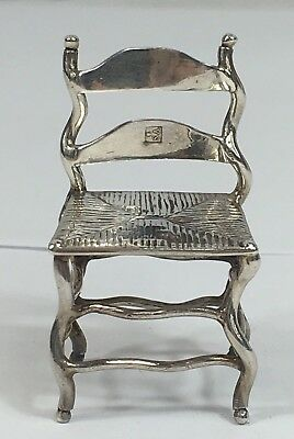 Antique Solid Silver Miniature Novelty Chair Continental Mark 17.5g