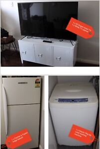 Full furnishings for 2 bed apartment-fridge, tv, washer, couch, all