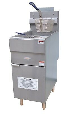 Hakka Commercial Heavy Duty 35-40 Lbs Natural Gas Deep Fryers