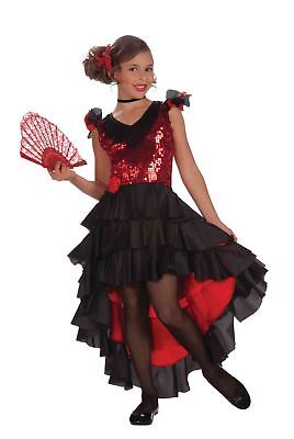 SPANISH DANCER flamenco red dress girls kids costume - Girls Flamenco Costume
