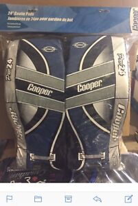 "Ball hockey goalie pads. Cooper, 24"". $20"