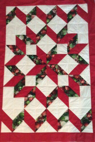 Handmade Star Christmas lap quilt