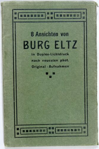 Antique Postcard Booklet Eltz Castle Germany Georg Heiss Photolithography 1910s