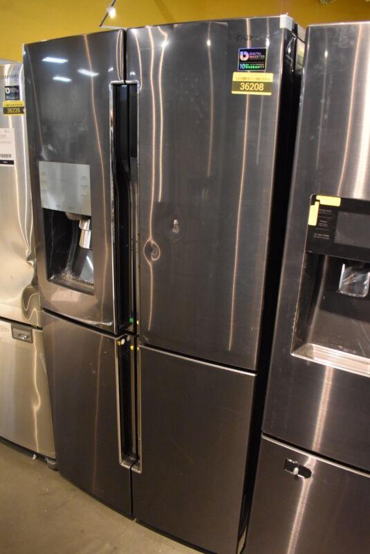 Samsung 22.6 Cu. Ft. Counter-Depth 4-Door Flex French Door Refrigerator Black Stainless Steel RF23J9011SG