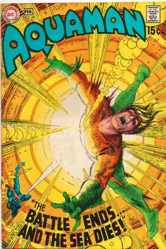 Aquaman #49 - Awesome Explosion Cover - (Grade 7.5) 1970