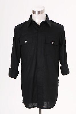 Stargate Atlantis John Sheppard Costume Uniform Black Shirt - Sheppard Costume