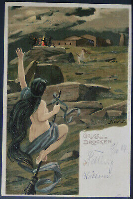 1904 Witches & Nude - German Halloween ?  PC282
