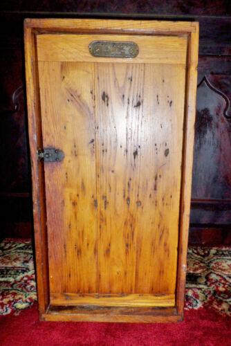 "Mercantile Display /Showcase Miller Lock Co 25.75"" Philadelphia Oak  ANTIQUE"