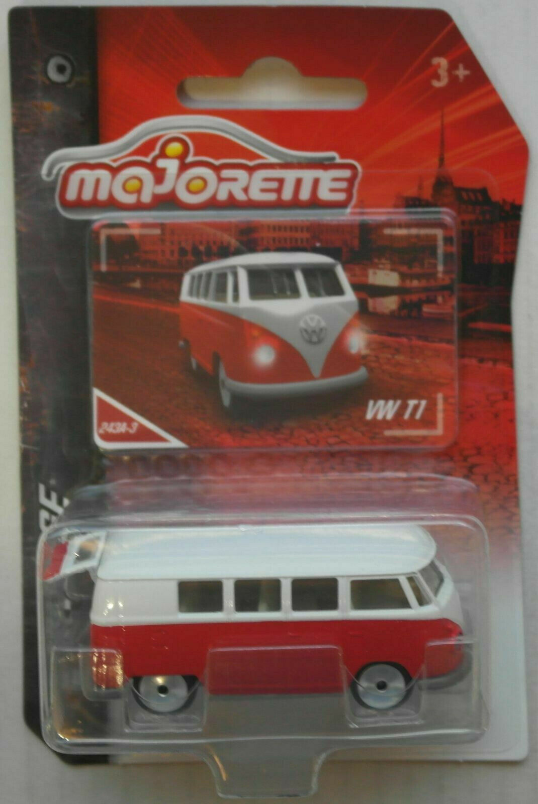 Majorette VW Bus T1 Volkswagen rot/weiß Neu/OVP Fensterbus Oldtimer KEIN Samba