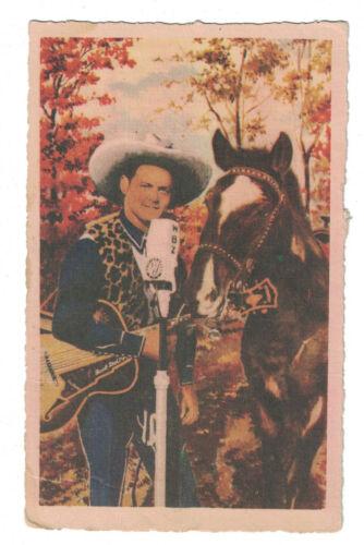 Jack Dalton WBZ Singing Cowboy Autographed Color Postcard