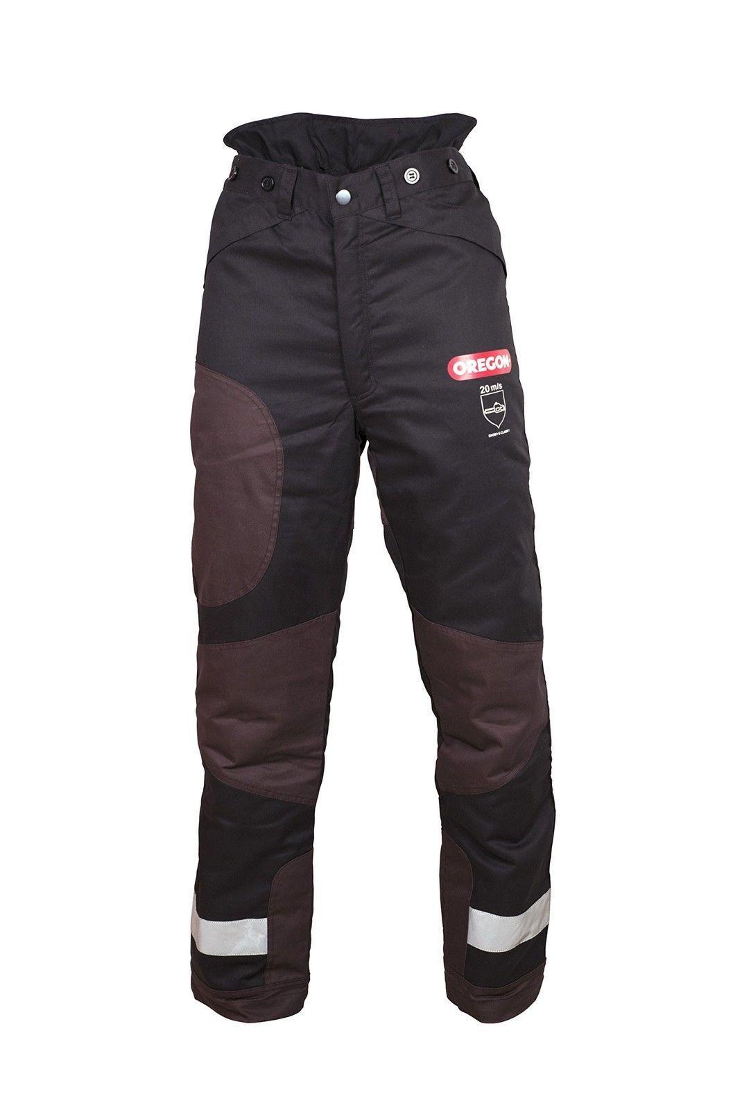 Talla XL pantalones ligeros para motosierra//trabajo//exterior Oregon Yukon Negros Pantalones de Protecci/ón Tipo A Clase 1 20m//s