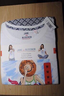 Jane And Bleecker Ladies 2 Piece Pyjama Set Size M Bnwt