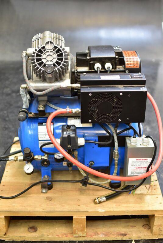 Jun-Air (Dentalez) Ca-825 Dental Air Compressor Unit Quiet Oil-Free 1.5 HP