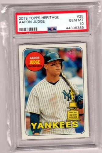 2018 Topps Living Set #1 Aaron Judge Baseball Card Limited Print Run of 13,256