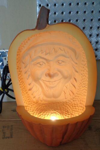 "12""  Carved Scarecrow LARGE Halloween Foam Jack O Lantern Pumpkin Lighted Prop"