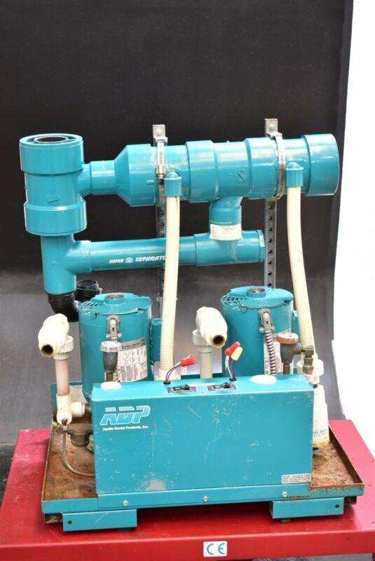 Adp Apollo Avb10Tnr Dental Dual Vacuum Pump System Operatory Suction Unit