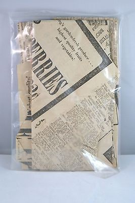 SET OF 4 VINTAGE NEWSPAPER ARTICLES RENTAL HOMES GROCERY