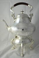 N4631 N° Meraviglioso Samovar Teiera In Argento Sheffield Collection -  - ebay.it
