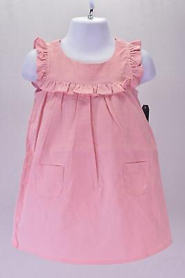 Infant Baby Girl's Nautica NAV0092Q Fine Wale Cord Ruffle Dress, Light Pink