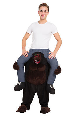 Gorilla Piggy Back Costum Fancy Dress Costume Outfit Male Mens Adult One - Gorilla Kostüm Piggy Back