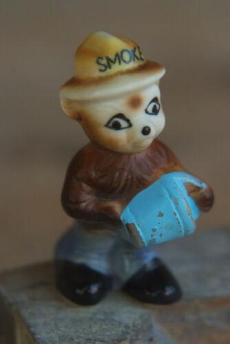 Original SMOKEY THE BEAR Water Bucket Mini Figurine -1960