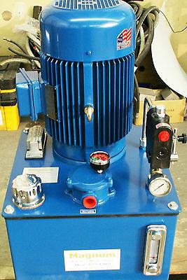 Hydraulic Power Unit 10 H.p. Electric 10 Gpm Pump Three Phase Or