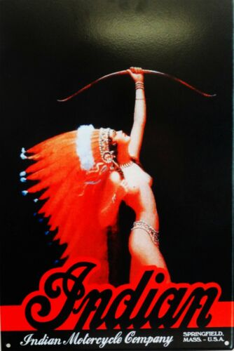 Indian Motorcycle Poster Metal Sign