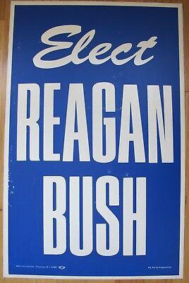 Original 1980 RONALD REAGAN Presidential Election Poster