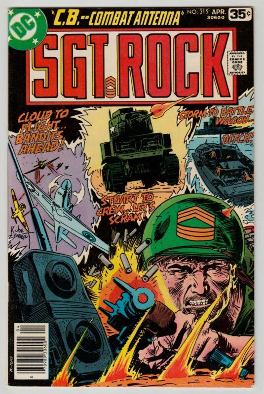 SGT. ROCK #315 APRIL 1978 VF+ 8.5 DC COMICS